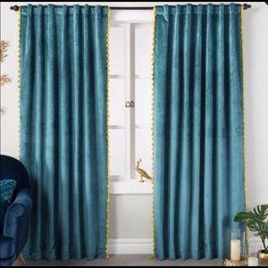 NWT-Opalhouse 2 Velvet Curtain Panels w/Tassels